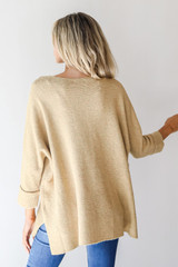 Oversized Sweater in Mustard Back View