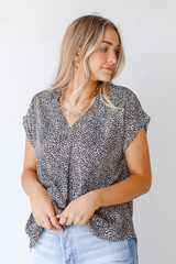Mocha - Spotted Blouse from Dress Up