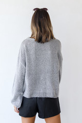 Sweater in Heather Grey Back View