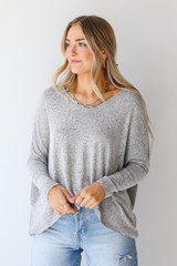 Model wearing a Brushed Knit Top