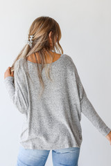 Brushed Knit Top Back View