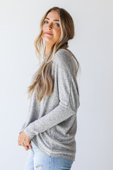 Brushed Knit Top Side View