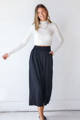 Black - Smocked Pants from Dress Up