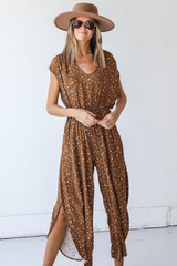 Model wearing a Spotted Jumpsuit