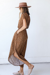 Spotted Jumpsuit Side View