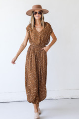 Spotted Jumpsuit Front View