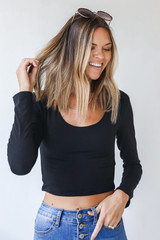 Black - Everyday Crop Top from Dress Up