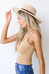 Everyday Cropped Tank in Mustard Side View