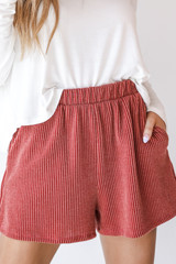 Rust - Corded Shorts