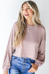 Blush - Corded Pullover