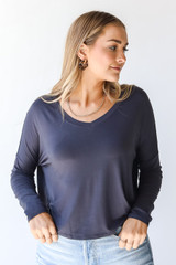 Charcoal - Everyday Tee Front View