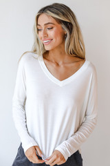 White - Dress Up model wearing an Everyday Tee with lounge shorts