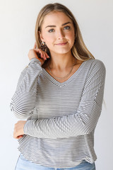 White/Black - Model wearing an Everyday Tee with jeans