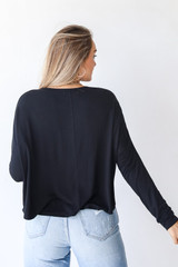 Everyday Tee in Black Back View
