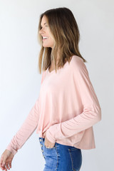 Everyday Tee in Blush Side View