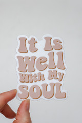 Blush - It Is Well With My Soul Sticker from Dress Up