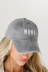 Model wearing a Mama Embroidered Hat