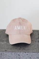 Blush - Amen Embroidered Hat from Dress Up