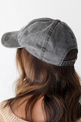 Amen Embroidered Hat in Black Back View