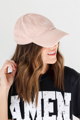 Faith Embroidered Hat Side View