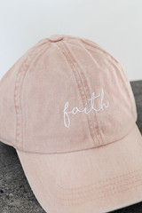 Close Up of the Faith Embroidered Hat