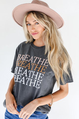 Breathe Tee Front View on model