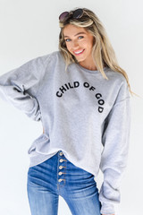 Heather Grey - Child Of God Pullover
