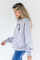 Heather Grey Child Of God Pullover Side View