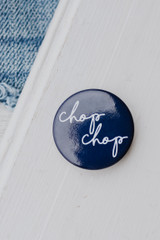 Navy - Flat Lay of the Chop Chop Button