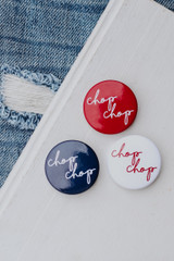 Navy - Flat Lay of Chop Chop Buttons