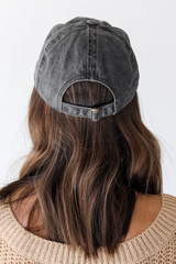 Glory Glory Embroidered Hat in Black Back View