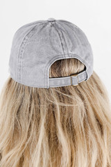 Glory Glory Embroidered Hat in Grey Back View