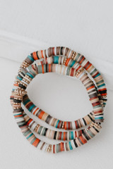 Multi - Flat Lay of a Beaded Bracelet Set from Dress Up