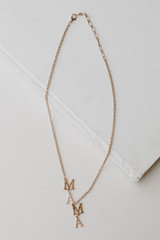 Flat Lay of a Gold Necklace