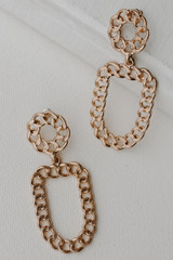 Gold - Chain Drop Earrings from Dress Up
