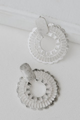 Silver - Flat Lay of Statement Earrings