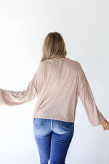 Ribbed Top Back View