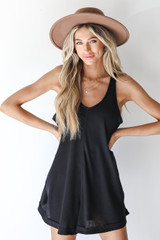 Black - Waffle Knit Romper from Dress Up