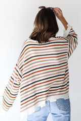 Striped Sweater Back View
