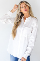 White - Button-Up Blouse