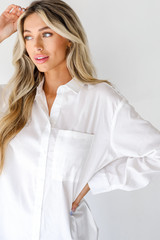 Dress Up model wearing a Button-Up Blouse