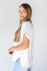 Blouse in White Side View
