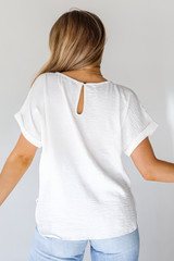 Blouse in White Back View