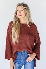 Marsala - Sweater Front View