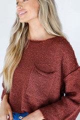 Marsala - Sweater Front View on model