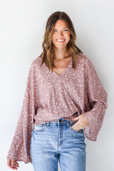 Mauve - Floral Blouse from Dress Up