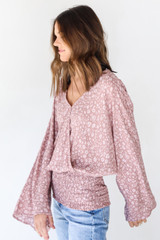 Floral Blouse Side View