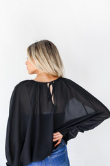 Blouse in Black Back View