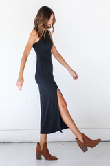 Ribbed Maxi Dress Side View