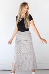 Leopard Maxi Skirt Front View